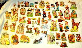 Vintage Children Animals Diecut Cutouts 65 Piece Lot Paper Flowers 1950s - $47.49