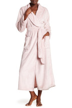 NWT New Natori Pink Faux Fur Robe Womens Long Very Soft Pockets M Dusty ... - $162.50