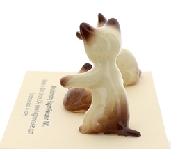 Hagen-Renaker Miniature Cat Figurine Siamese Kittens 3 Piece Set Chocolate Point image 4