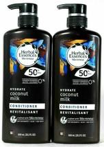 (2 Bottles) Herbal Essences Bio Renew Hydrate Coconut Milk Conditioner 20.2 Oz - $30.68