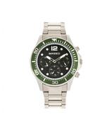 Breed Pegasus Bracelet Watch w/Day/Date  - Green/Silver - $420.00