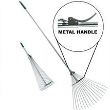 Telescopic Rake Folding Rake Garden Rake Heavy Duty Foldable Rake - $42.77