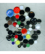 Special Pricing 61 Vintage Multi-Colored  Glass Czech Buttons Sewing Cra... - $12.99