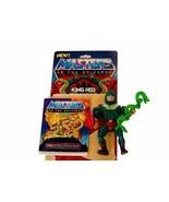 King Hiss Snakemen Master of Universe vtg MOTU figure Mattel Card Comic ... - $173.25