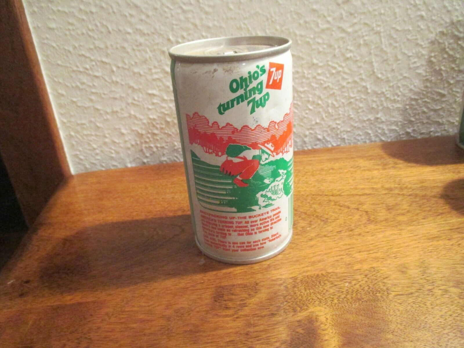 Primary image for Ohio OH Turning 7up vintage pop soda metal can backpacking Buckeye trail