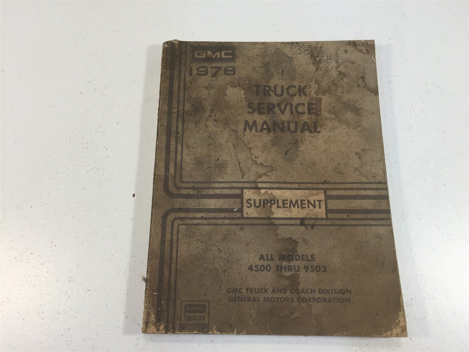 1978 gmc truck service manual supplement and 50 similar items