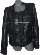 NWT VERTIGO Paris XL dressy jacket blazer coat black silver metallic $36... - $145.49