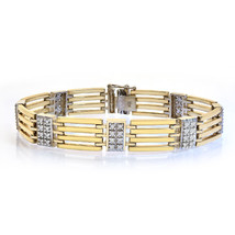 1.25 Carat Mens Diamond Bracelet 14K Yellow Gold - $2,638.35