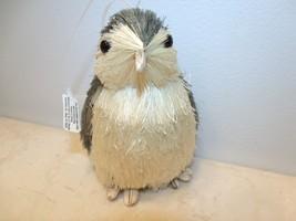 Christmas Penguin Sisal Bottle Brush Tree Ornament White Holiday Silver ... - $9.49