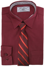 Boltini Italy Boys Kids Toddlers Long Sleeve Dress Shirt Set with Matching Tie image 3