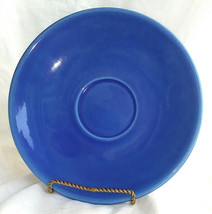 "LG Metlox Saucer 7"" VTG Royal Blue California Pottery No Cup Oversized X... - $17.77"