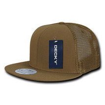 Ripstop Flat Bill Trucker Cap - Coyote, Cotton (Decky 241-COY, New with ... - £6.94 GBP