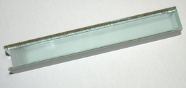Judaica Mezuzah Case Sparkling Gold Glass Mirror Closed Back SHIN 12 cm image 4