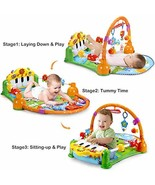 Baby Gym Kick and Play Piano - Lay to Sit-Up Play Mat Newborn Large Acti... - $67.66