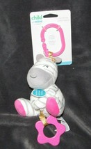 Carters Child of Mine Pink Zebra Stuffed Plush Baby Teether Pull Toy Rat... - $29.69