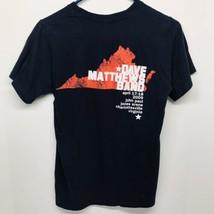 Dave Matthews Band Small Navy Blue Anvil T-Shirt Charlottesville, VA Apr... - $19.79