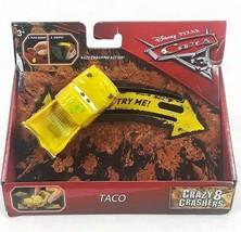 NEW DISNEY PIXAR CARDS 3 TACO Crazy 8 Crashers Toy 3+ yrs. MATTEL 2016 - $7.42