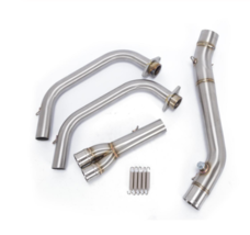 Motorcycle Exhaust Muffler Middle Pipe Echappement Moto Slip-On Connecto... - $146.69