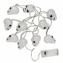 TRIXES 1 x String with 10 Skull LED Lights - Battery Operated Halloween ... - $11.49