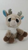 Russ Plush Lil Peepers Juniper Reindeer tan brown feet blue sparkle eyes... - $12.86