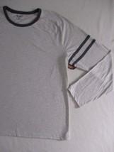 Arizona Jeans Men T Shirt 2XL Beige Solid Crew Cotton Polyester 17111 image 2