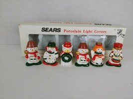 Vintage Sears Porcelain Christmas Light Covers Set Fits Miniature Lights - $12.18
