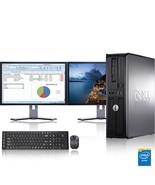 "Dell Computer 3.0 GHz PC 8GB RAM 500 GB HDD Windows 10 Dual 17"" LCD - $326.43"