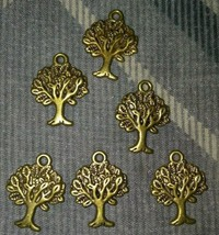 Lot Of 6 Tree Charms Pendants Nature - $3.91