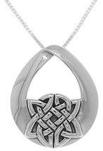 Jewelry Trends Sterling Silver Teardrop Celtic Knot Pendant on 18 Inch B... - $46.75