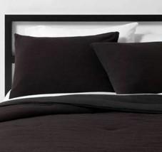 Micro Texture Duvet Cover & Sham Set Black - Project 62 + Nate Berkus QUEEN/FULL image 2