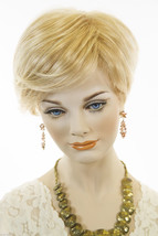 Meg FS613/24B Blonde Short Double Mono Hand Tied Jon Renau Wavy Wigs - $350.06