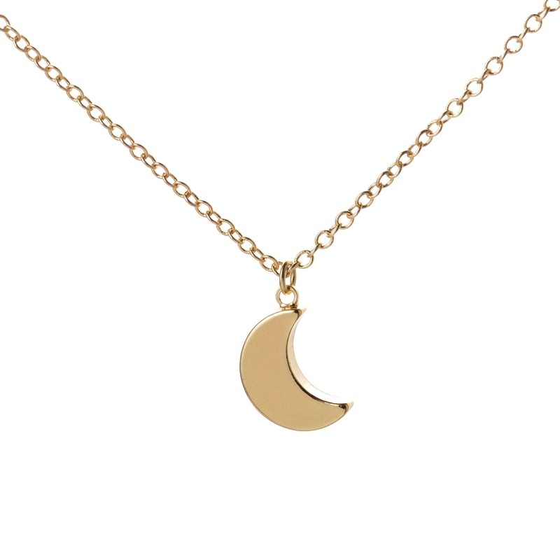 necklace women silver gold accessories collares moon phase clavicle chains necklaces bijoux 257