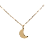 Tiny Crescent Moon Necklace Women Silver Gold Accessories Collares Moon ... - $17.35