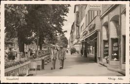 Dusseldorf Konigs Alee Walter Breitenfeld animated street scene - $14.00