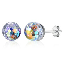 Crystal Stud Earrings 8x6mm Rectangle, Swarovski Rhinestones, 1 Pair, 5 ... - $9.79