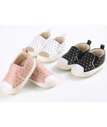 StylesILove Infant Baby Boy and Girl Polka Dot Soft Leather Slip  Causal... - $9.99