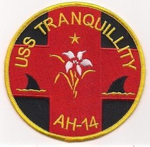 US Navy AH-14 USS Tranquillity Hopital Ship Patch - $11.87