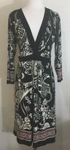 Liz Lange Maternity Dress Size Large Black White Red Floral 3/4 Sleeve C... - $16.83