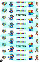 Custom Autism Awareness Nail Decals - $4.95