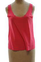 Topshop Women's Pink Scallop Vest Crop Top Basic Knit Shell Career Size ... - $17.16