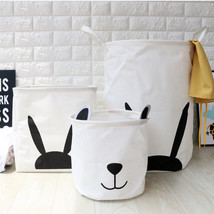 FULLLOVE® Cartoon Laundry Basket For Dirty Clothes Cotton Fabric Baskets - $12.30+