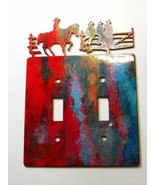 Cowboy Double Light Switch Cover Plate by Steel Images Made in USA 02161... - $27.99