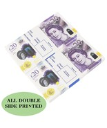 New Edition Prop Money Uk 20 GBP Pounds Realistic Money Fake Pounds Novelty  - $12.99