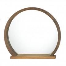 Round Wooden Mirror With Shelf - $63.70