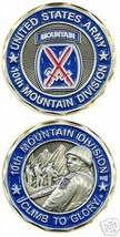 ARMY 10TH MOUNTAIN DIVISION COLOR CHALLENGE COIN - $16.24