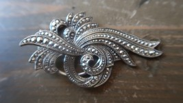Vintage Large Ornate Silver Sweater Clip 6cm - $14.38