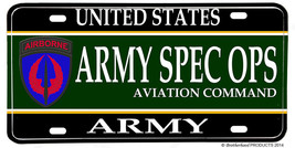 United States Army Spec Ops Aviation Command  Aluminum License Plate - $12.82
