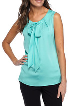 Nwt Tommy Hilfiger Blue Green Career Blouse Size L $59 - $24.25
