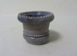 SUMMIT ART GLASS GRAY PURPLE SLATE  HOLLY AND BERRIES TOOTHPICK HOLDER - $10.99
