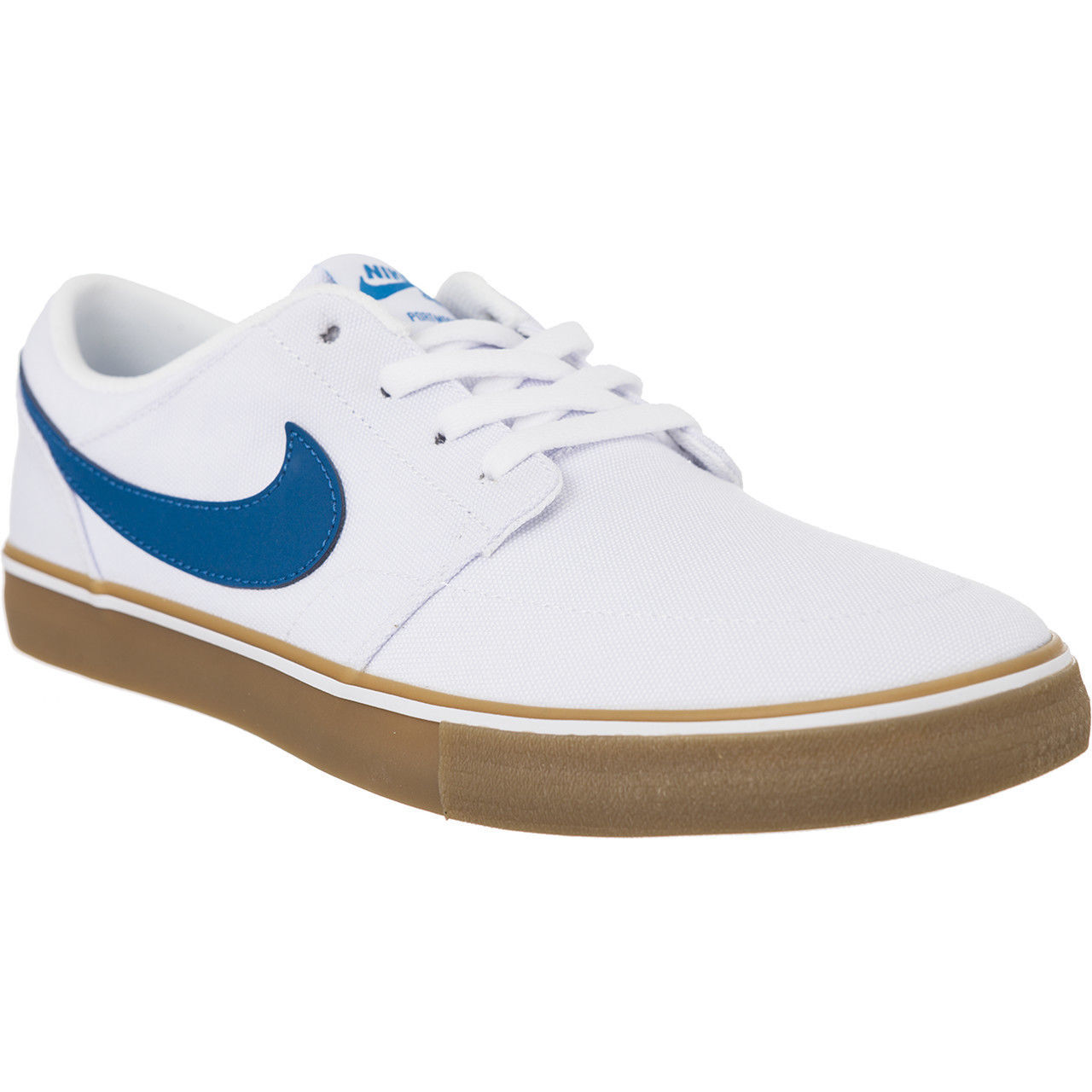 Nike SB Portmore II Solar CNVS Canvas White/Blue Mens Skate Shoes 880268-149 image 2